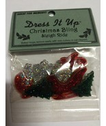 Dress It up Christmas Miniatures 6 Pc Red/green Sleigh Ride Embellishmen... - $0.99