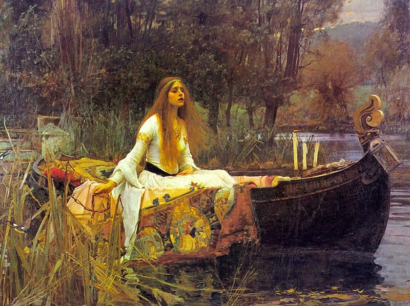 Lady of shalott 24x36 poster