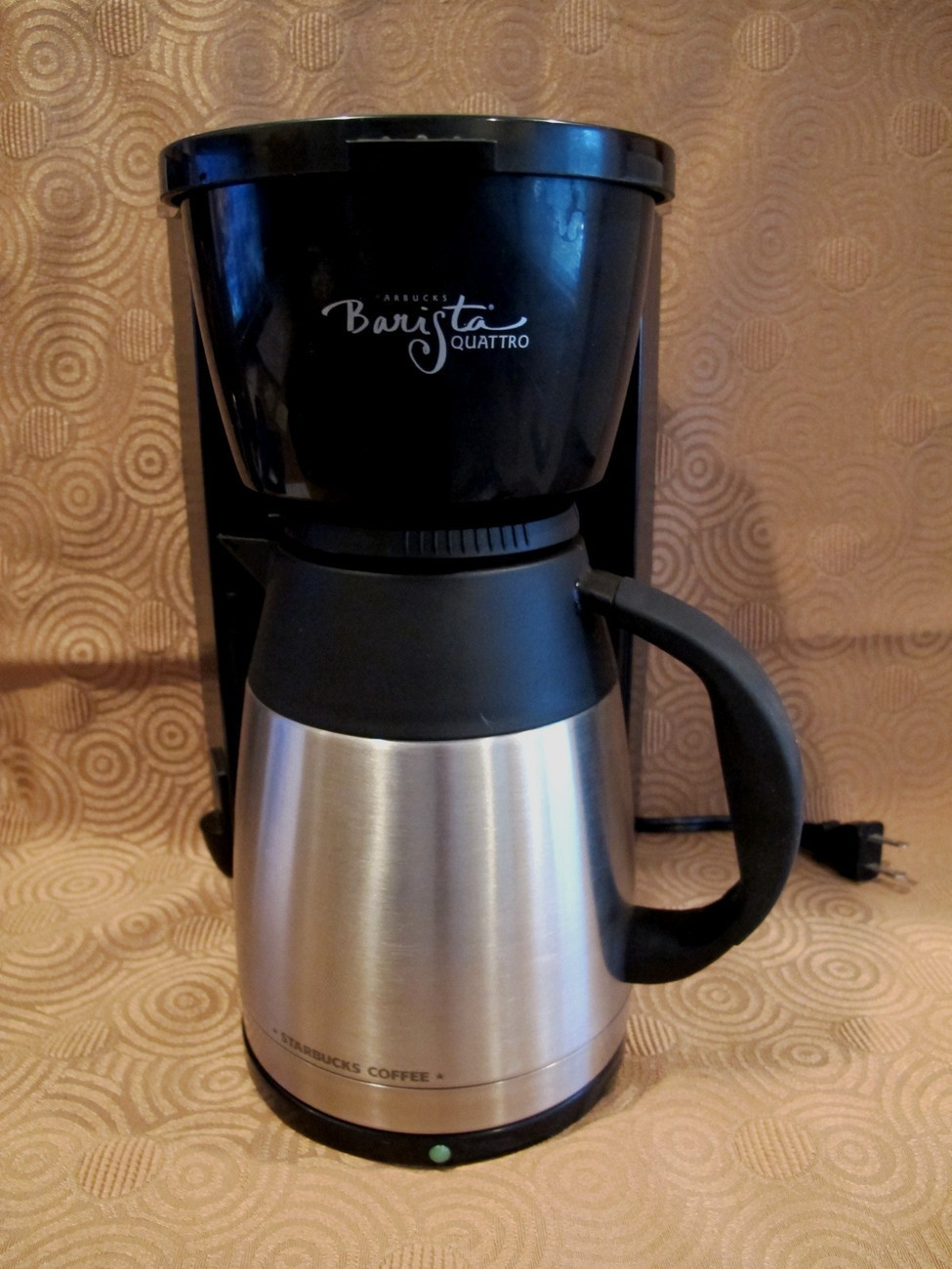 Primary image for Starbucks Stainless Coffee Maker Machine 3 Cup Mug Barista Quattro Pot