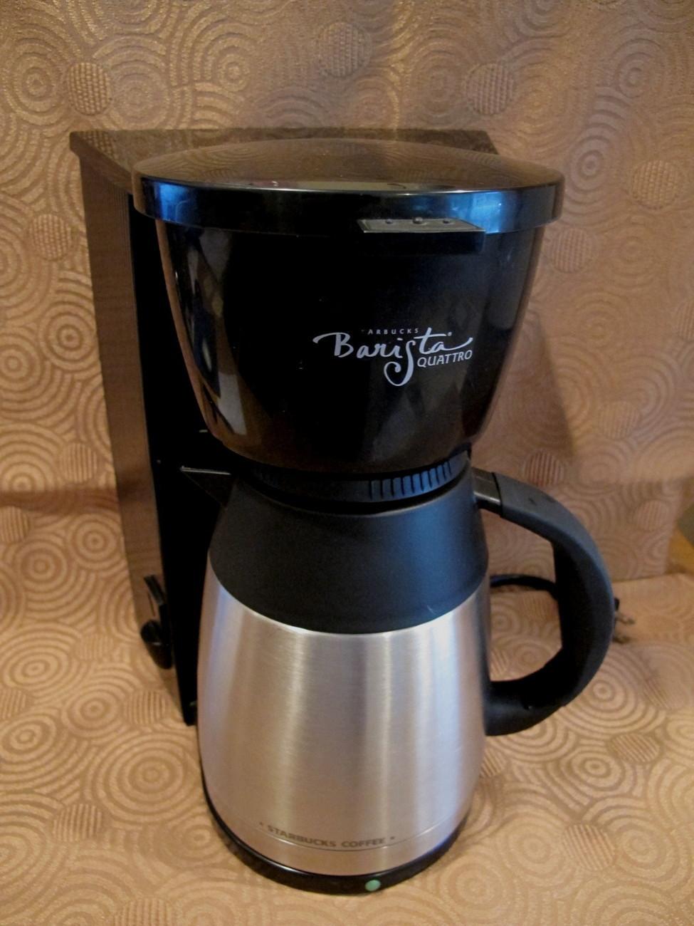 Starbucks Stainless Coffee Maker Machine 3 Cup Mug Barista Quattro Pot