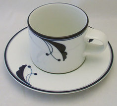 Dansk FLORA BAYBERRY BLUE Cup & Saucer Set Japan  - $10.99