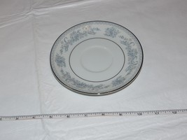 Mikasa Fine China Dresden Rose L9009 1 Saucer only White Blue Flowers! - $29.69