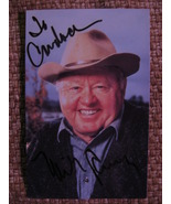"""Mickey Rooney Autograph (Personalized) On A 3 1/2"""" X 5 1/2"""" Photograph - $40.00"""