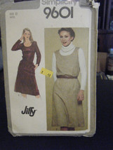 Simplicity 9601 Misses Jiffy Pullover Dress or Jumper Pattern - Size 12 - $5.35