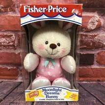 NEW Vintage Fisher Price #73727 Moonlight Dreams Bunny Plush Satin Ears ... - $75.00