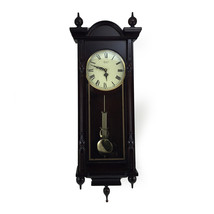 Bedford Clock Collection Grand 31 Inch Chiming Pendulum Wall Clock in An... - $192.89