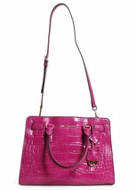 New! Michael Kors Dillon E/w Satchel Embossed Leather-ASH Fuschia - $296.88