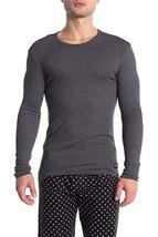 Calvin Klein Men's Luxe Crew Neck Long Sleeve Thermal Shirt (XL) Dark Charcoal