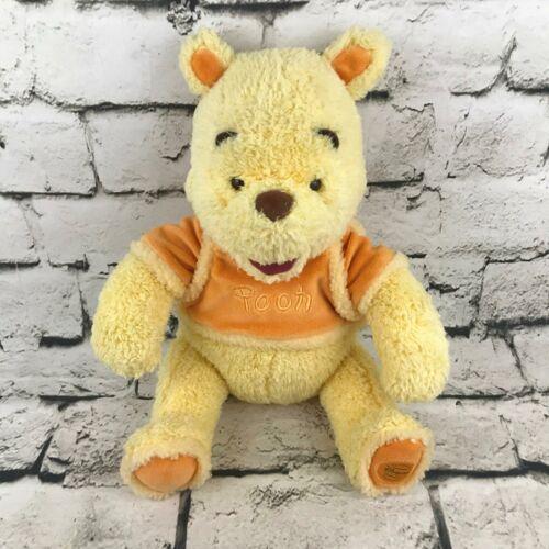 Disney Winnie The Pooh Plush Yellow Orange Soft Sitting Stuffed Animal Cozy Toy