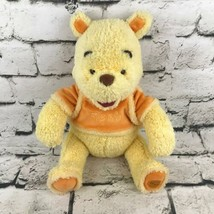 Disney Winnie The Pooh Plush Yellow Orange Soft Sitting Stuffed Animal C... - $19.79
