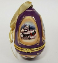 Mr Christmas Musical Egg Ornament Sleigh Ride It Came Upon Valerie Parr 2008 - $14.99