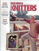 Machine Knitters Source Jan Feb 2001 Magazine Colorful Afghans Patterns ... - $4.27