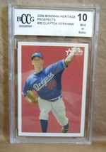 Clayton Kershaw RC 2006 Bowman Heritage Pitching Rookie BCCG10!Dodgers P HOF - $197.99