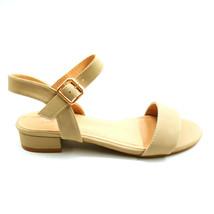 Top Moda Womans Bertie 1 Ankle Strap Sandal Beige Open Toe Cushion Sz 6 ... - $17.80