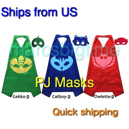 PJ Masks Cape Mask and Cape  Superhero Capes Kids