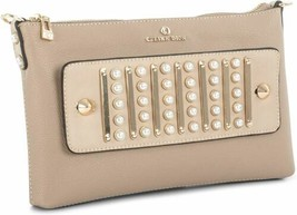Celine Dion Maestro Faux Leather Clutch (Beige) - £75.49 GBP