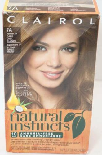 Primary image for Clairol Natural Instincts 7A Dark Cool Blonde 10 Min 28 Shampoo Hair Color 1 box