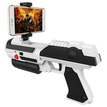 Creative Mobile Phone Smart Bluetooth AR Game Gun(WHITE) - $17.78