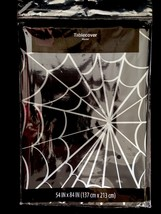 Gothic Witch-SPIDER WEB COBWEB DOOR TABLE COVER CLOTH-Halloween Party De... - $4.92