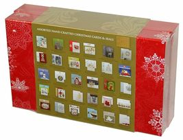 30 Hand Crafted Christmas Cards with Matching Self Seal Envelopes & Seals image 4