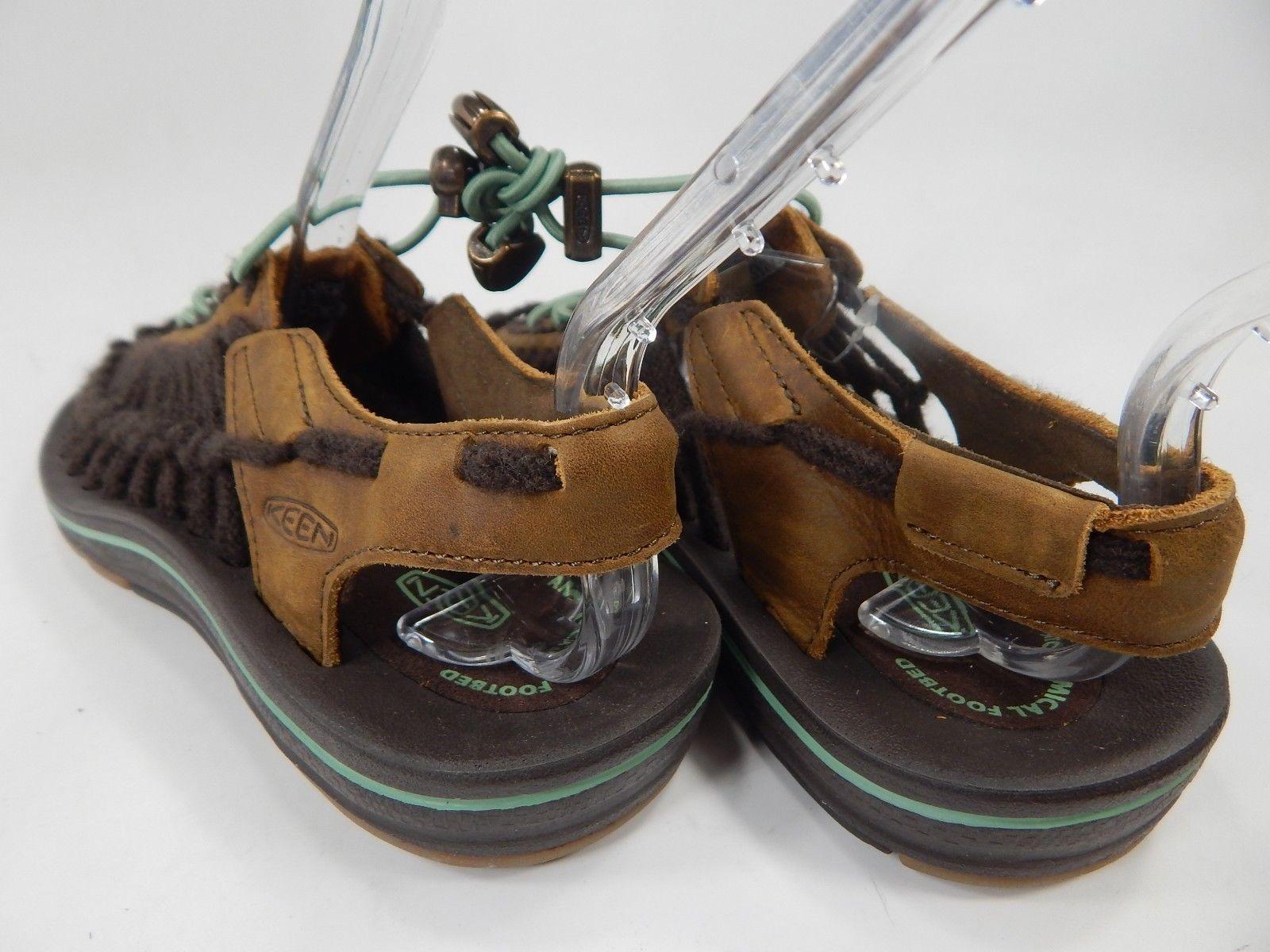 Keen Uneek Leather Women's Sport Sandals Size 7 M (B) EU 37.5 Dark Earth / Basil