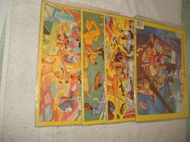 4 Vintage Walt Disney Jaymar jigsaw Puzzles Mickey Peter Pan Goofy 13'' x 10''  - $39.59