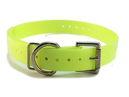 Dogtra 3/4' High Flex Waterproof Roller Buckle Dog Strap, Neon Yellow - $15.19
