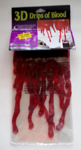 3D Drips of Blood Window Cling Halloween Decoration Movie Prop Haunted H... - $6.88