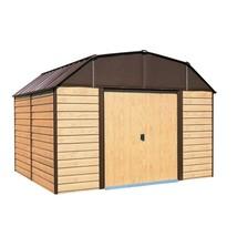 Steel Storage Shed w/ Floor Kit 10 x 9 Sliding Lockable Door Outdoor Gar... - $790.25