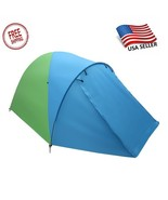 3-4-Person Family Camping Tent For Hiking Backpacking Blue & Green  - $49.99