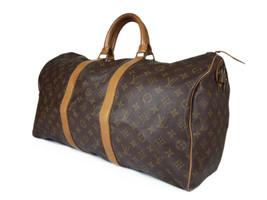 Louis Vuitton Keepall 50 Monogram Canvas Leather Boston Bag LH2536 - $379.00