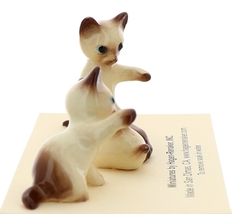 Hagen-Renaker Miniature Cat Figurine Siamese Kittens 3 Piece Set Chocolate Point image 3