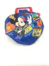 Walt Disney Mickey Mouse Imaginings 100% PVC Blue Bonjour Hola Travel Duffle Bag - $19.76