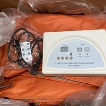 Far Infrared  2 Parts Weight Loss Slimming Sauna Blanket Salon Machine - $70.11