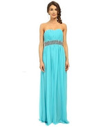 Calvin Klein Embellished Strapless Gown with Empire Waist Manganese Blue 4 - $54.44