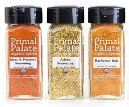 Primal Palate Organic Spices - Signature Blends 3-Bottle Gift Set - $45.17