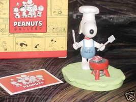 Hallmark Peanuts Gallery JOE BAR-B-Q Figurine Mint With Box - $34.64