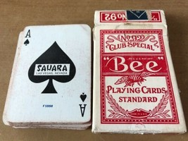 1984 Hotel Sahara Las Vegas Casino Used Bee #92 Playing Cards Red F5998 - $210.66