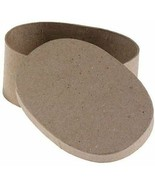Darice Paper Mache Box Oval 5 x 3-1/2 x 2 inch (6-Pack) 2833-34 - $12.85