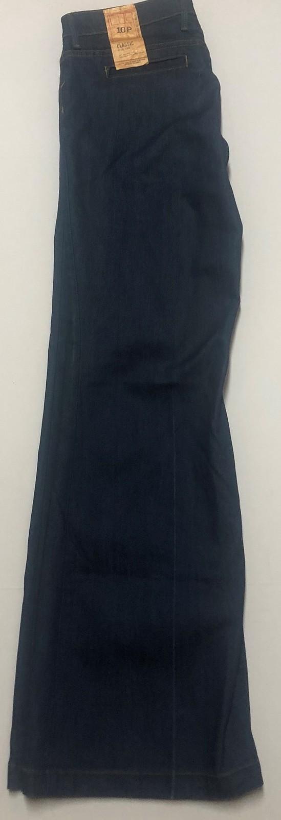 Banana Republic Classic Jeans Sz 10P Stretch Medium Blue Wide Leg image 6