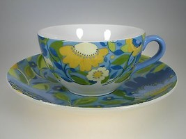 Spode Kim Parker Chicory Hymn Large Breakfast Cup & Saucer NEW IN GIFT BOX - $12.82