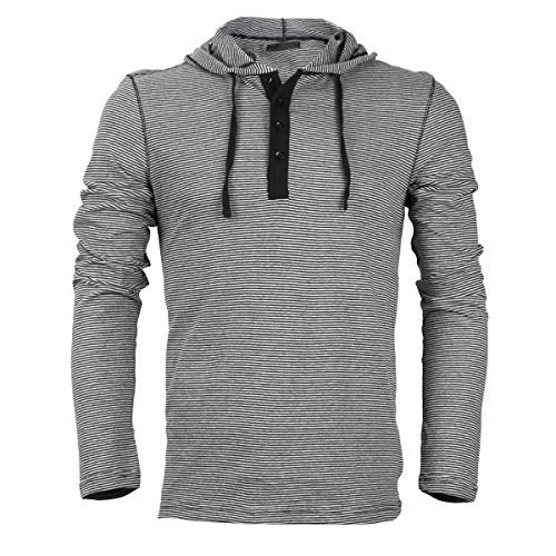 Royal Knights Men's Lightweight Slim Fit Pullover Henley Shirt Hoodie (Small, 02