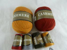 Mongolian Cashmere Yarn Wool Knitting Stretch slim version Lot 2 balls +... - $19.79