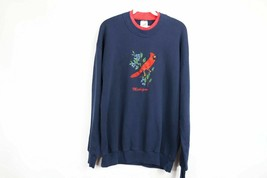 Vtg 80s Streetwear Mens XL Michigan Cardinal Bird Nature Print Sweatshir... - $34.60
