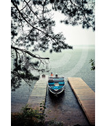 'Boat In Rain' - 10x15 Mounted Fine Art Print  - $36.99