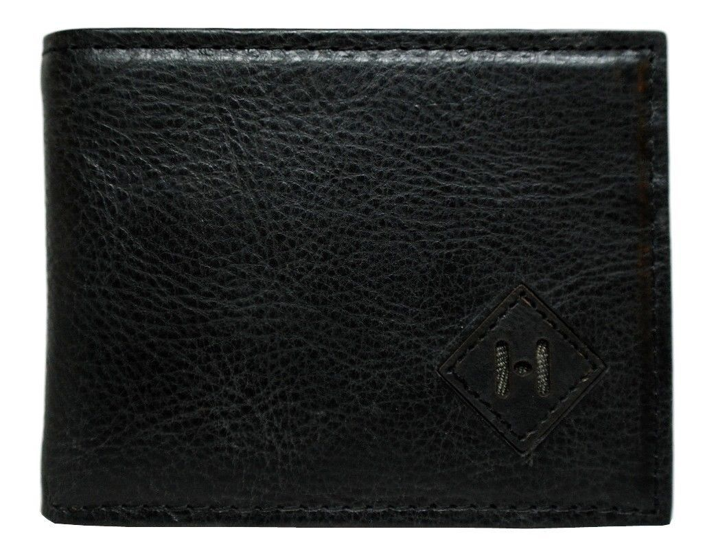 NEW TOMMY HILFIGER MEN'S PREMIUM LEATHER CREDIT CARD WALLET SLIM BLACK 4707-01