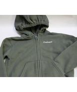 Kid's Dark Olive Green Carhartt Light Zip up Jacket 4T - $9.50