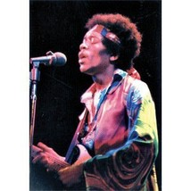 Jimi Hendrix Poster Flag Color Photo Live Singing New - $14.99