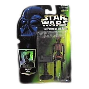 Star Wars POTF EV-9D9 action figure (green holo card)