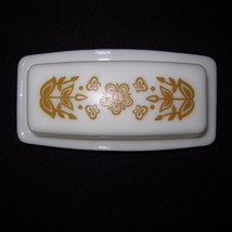 Vtg Pyrex Butter Dish 2 Piece Butterfly Gold 72B Quarter Pound Stick Cor... - $24.74